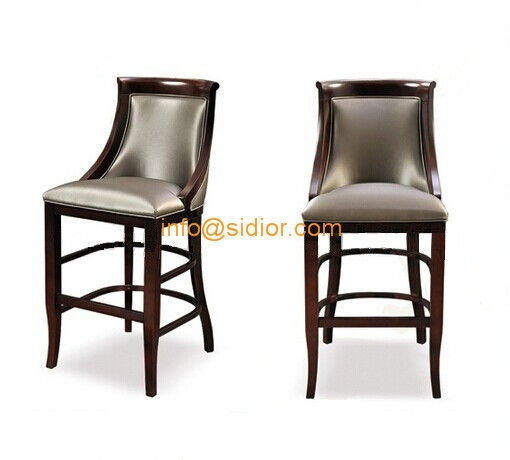 Cl 4402 Luxury Club Bar Furniture Solid Wood Bar Chair Wooden inside High End Bar Stools