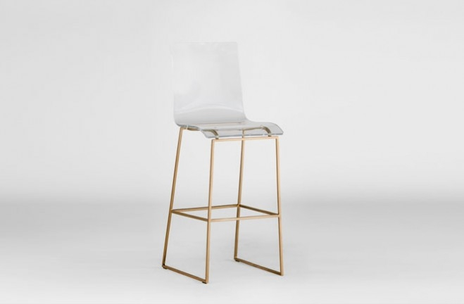 Clear Acrylic Bar Stool Lucite And Gold King Gab pertaining to Clear Bar Stools