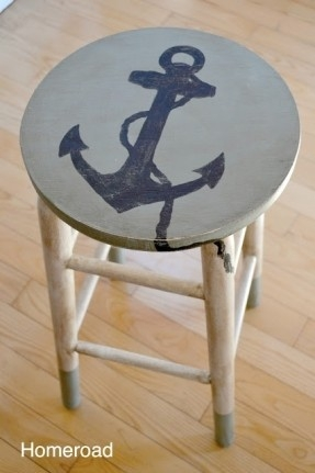 Coastal Bar Stools Foter regarding Nautical Bar Stools