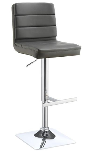 Coaster 120696 Grey Upholstered Adjustable Height Bar Stool Set Of with The Most Amazing  coaster bar stools intended for Household