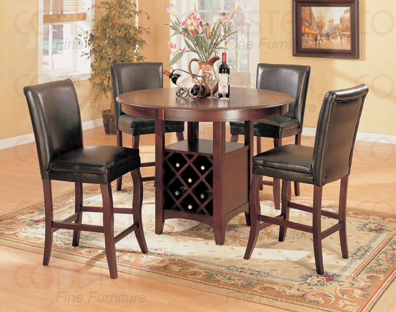 Coaster Company Set Of 2 Hoyt Bar Stools With Leather Back Stoolfd197a pertaining to Bar Stool Set Of 4
