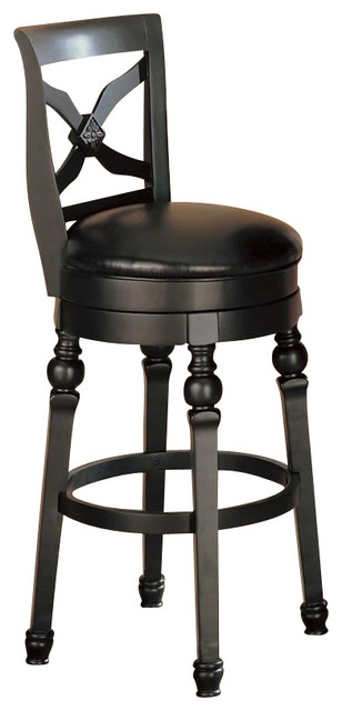 Coaster Lathrop 29 Inches Swivel Faux Leather Seat Bar Stool In pertaining to The Most Brilliant and also Attractive black swivel bar stools intended for Property