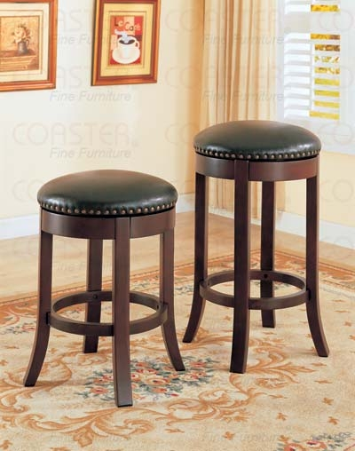 Coaster Nailhead Trim 29 Inch Barstool Set Of 2 101060 Fss in 29 Bar Stools