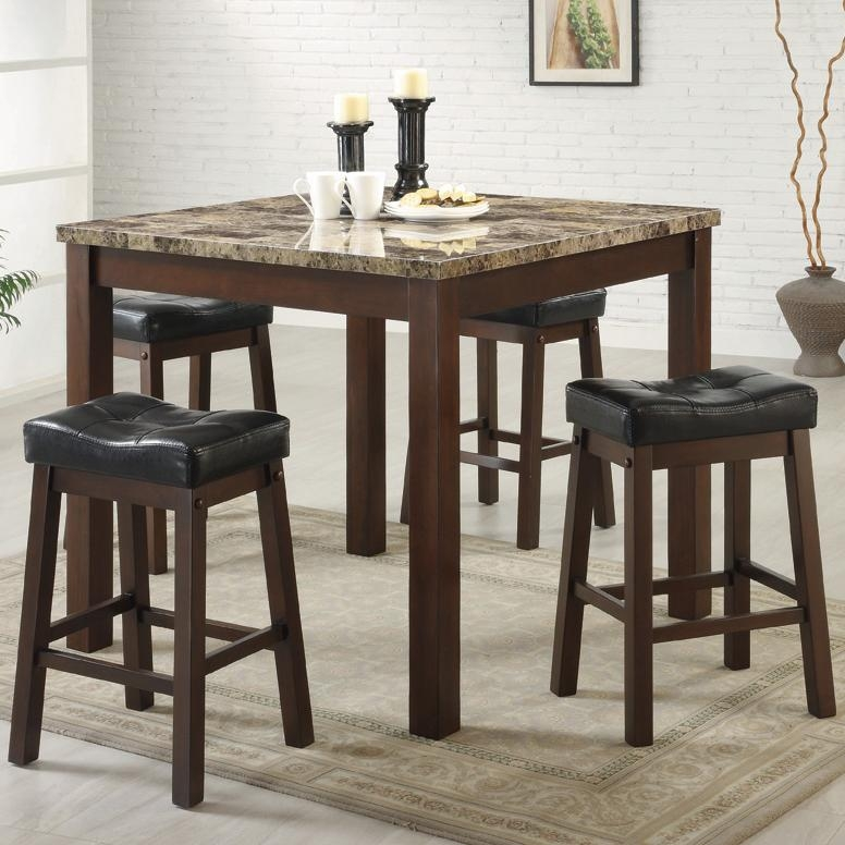 Coaster Pub Table And Stool Set Find A Local Furniture Store with regard to Bar Table And Stool Set