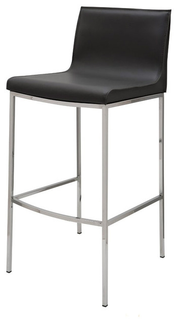 Colter Leather Bar Stool Nuevo Modern Bar Stools And with regard to Amazing in addition to Interesting black leather bar stools intended for The house