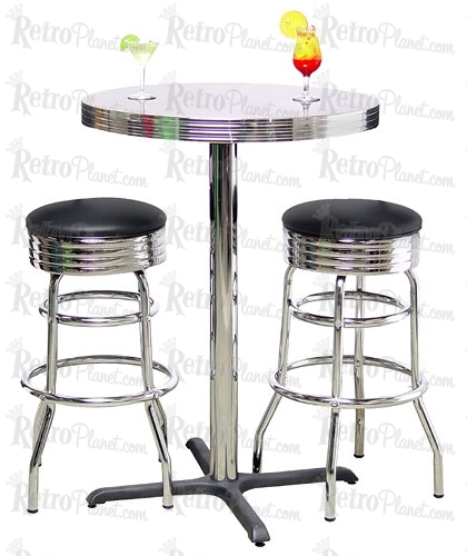 Commercial Pub Table Double Ring Bar Stool Set 7 Stunning Bar in Bar Stool Sets