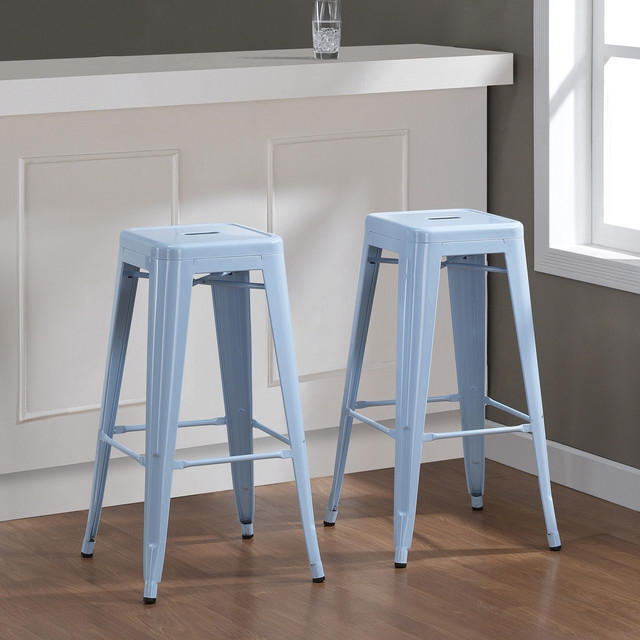 Contemporary Bar Stools And Counter Stools intended for Blue Bar Stools
