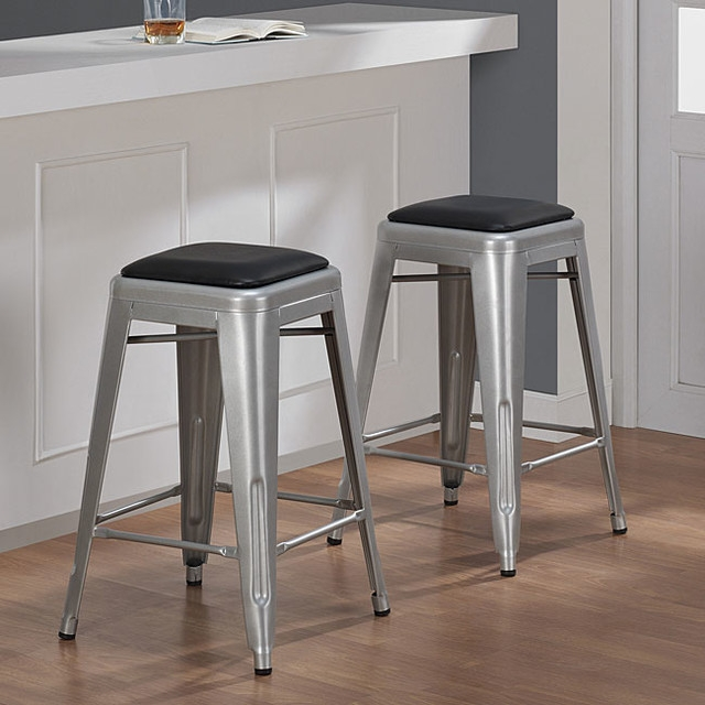 Contemporary Bar Stools And Counter Stools with regard to 24 Inch Metal Bar Stools