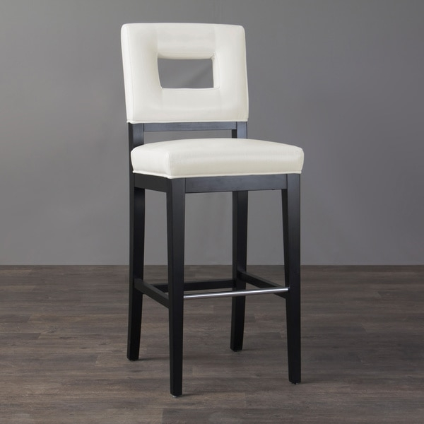 Contemporary Bar Stools Leather Black Leather High Back Dining in White Leather Bar Stools