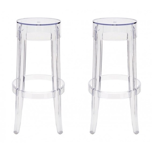 Contemporary Victorian Style Clear Color Ghost Plastic Bar Stools intended for The Elegant  clear bar stools with regard to Household