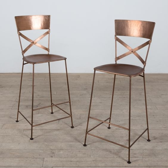 Copper Bar Bar Stools And Stools On Pinterest pertaining to Copper Bar Stools