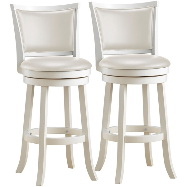 Corliving Dwg 119 B Woodgrove 43 Inch White Wash Wood Barstool intended for White Wood Bar Stools