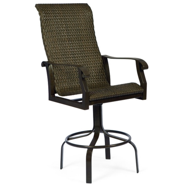Cortland Woven Swivel Bar Stool regarding Swivel Outdoor Bar Stools