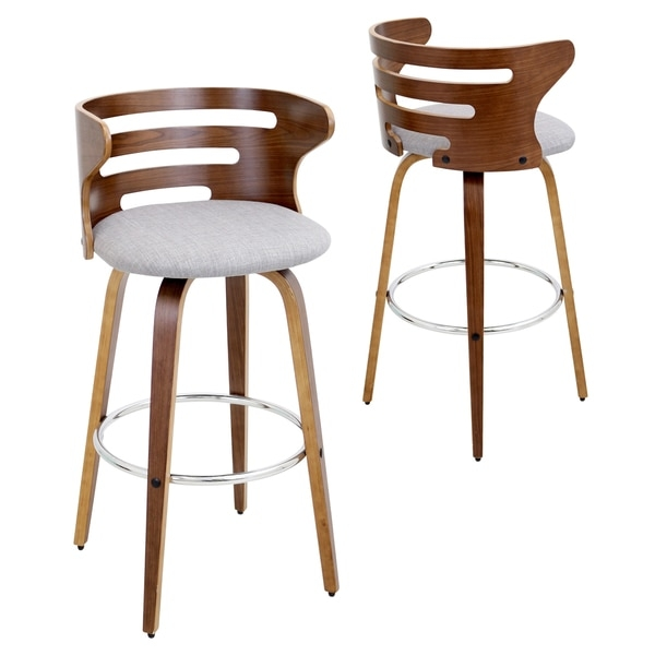 Cosini Mid Century Modern Walnut Wood 29 Inch Bar Stool 18352489 in Brilliant as well as Interesting 29 inch bar stools pertaining to  Property