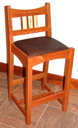 Craftsman Bar Stool Cherry throughout Awesome  craftsman bar stool intended for The house