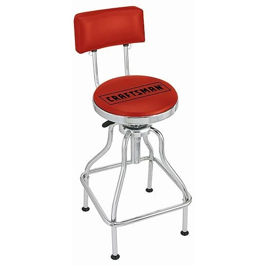 Craftsman Stools And Red On Pinterest pertaining to Awesome  craftsman bar stool intended for The house