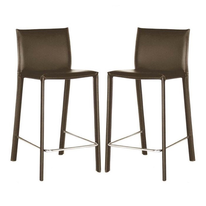 Crawford Counter Height Leather Bar Stools At Brookstonebuy Now inside counter height bar stools for Existing Residence