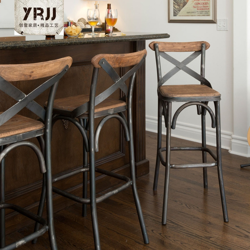 Creative Metal Iron Source Tall Wrought Iron Bar Chairs Outdoor Bar Chairs Bar Stool Bar Backrest for Awesome  metal outdoor bar stools regarding Motivate