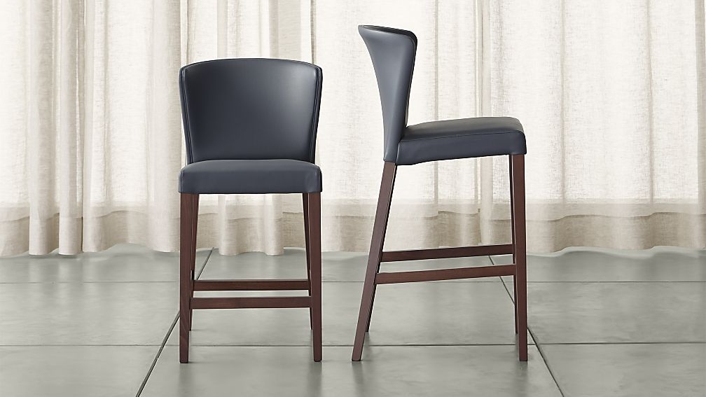 Curran Grey Bar Stools Crate And Barrel regarding Grey Bar Stools