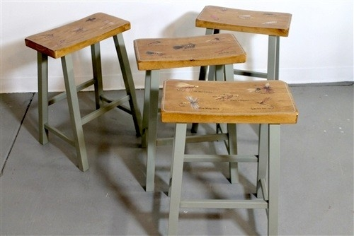 Custom Bar Stool Hand Painted Counter Stools Farmhouse Bar And in Farmhouse Bar Stools