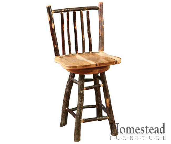 Custom Built Hardwood Furniture Homestead Furniture Made In Usa regarding Hickory Bar Stools