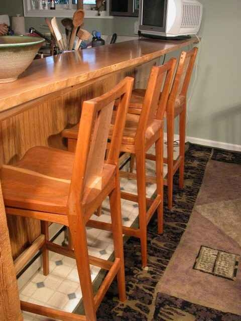 Custom Cherry Bar Stool Dumond39s Custom Furniture In Montana with The Elegant  cherry bar stools regarding Motivate