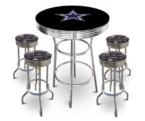 Dallas Cowboys Logo Pub Tables And Chrome Finish On Pinterest with Awesome and also Stunning bar stools dallas with regard to Aspiration