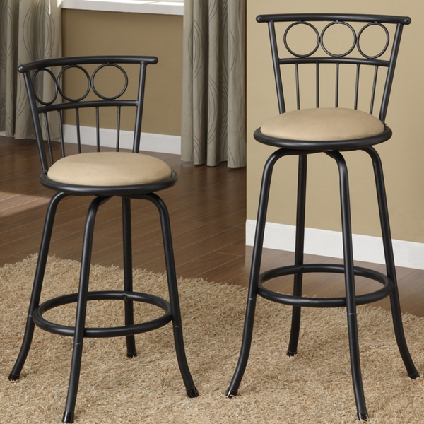 Decor Of Metal Bar Stool With Back Amerihome 2 Piece Metal Counter regarding Counter Height Swivel Bar Stools With Backs