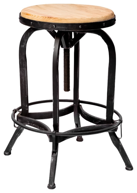 Dempsey Adjustable Swivel Stool Industrial Bar Stools And in Stylish  adjustable swivel bar stool intended for Your own home