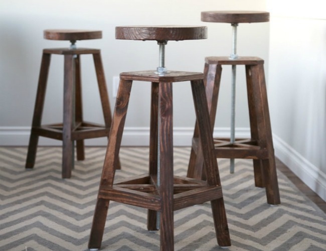 Diy Bar Stools 5 Ways To Build Yours Bob Vila regarding Diy Bar Stools