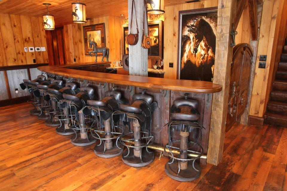 Diy Nation 20 Ways To Spend A Little More Time In The Saddle intended for Saddle Bar Stools
