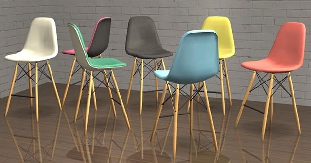 Eames Counter Stools And Side Chairs On Pinterest with Eames Bar Stool