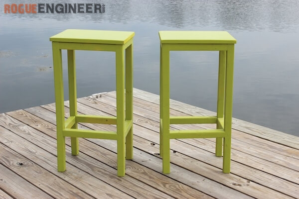 Easiest Bar Stools Ever Free Diy Plans Rogue Engineer intended for Diy Bar Stools