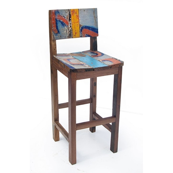 Ecologica Furniture Reclaimed Wood Bar Stool 14115703 within reclaimed wood bar stool pertaining to Inspire