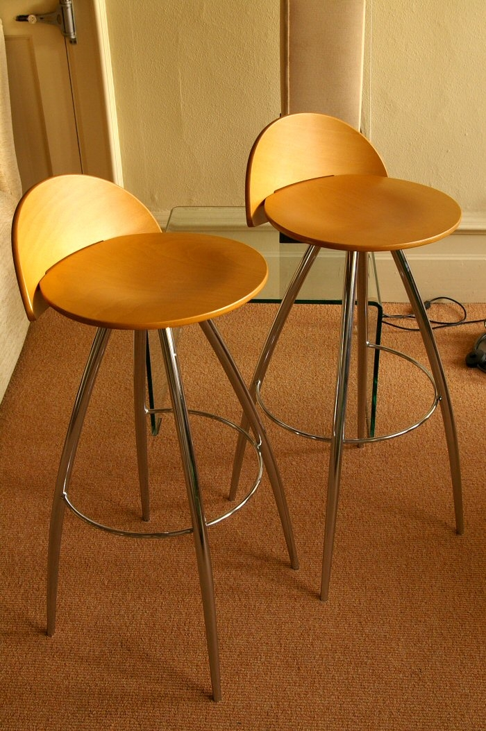 Effezeta Bar Stool Sg14 Chrome With Beech Seat Bexons intended for The Amazing and Attractive effezeta bar stool regarding Your property