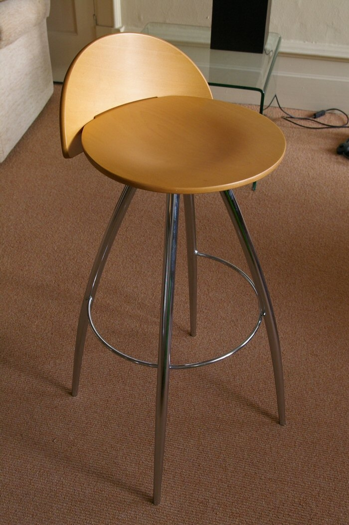 Effezeta Bar Stool Sg14 Chrome With Beech Seat Bexons throughout Effezeta Bar Stool
