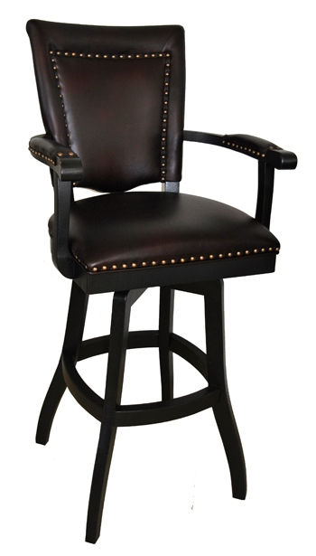 Elegant Bar Stool With Back And Arms Padded Swivel Bar Stool With throughout Bar Stools With Backs And Arms And Swivels