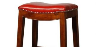 Elmo Bounded Leather Bar Stool regarding The Most Incredible along with Gorgeous red leather bar stools with regard to Current House