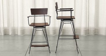 Elston Swivel Bar Stools Crate And Barrel intended for bar stool swivels for Invigorate