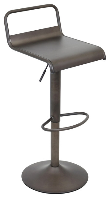 Emery Barstool Industrial Bar Stools And Counter Stools throughout The Brilliant and also Gorgeous adjustable metal bar stools with regard to Dream