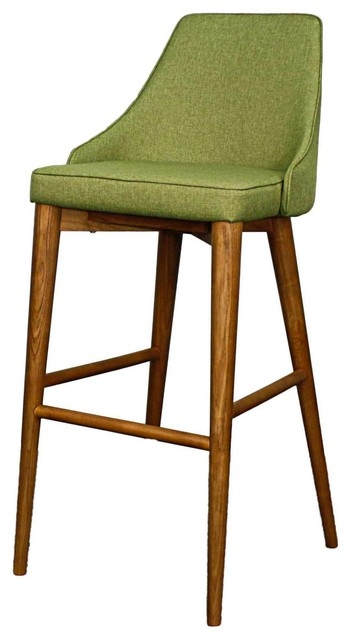 Satine Stool With Walnut Veneer Midcentury Bar Stools And for Mid Century Bar Stools