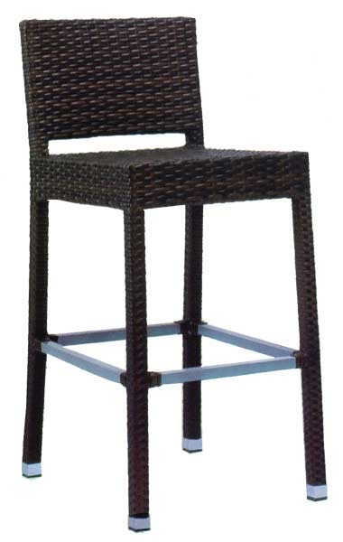 Espresso Brown Wicker Outdoor Indoor Bar Stool Restaurant Furniture throughout espresso bar stools for  House