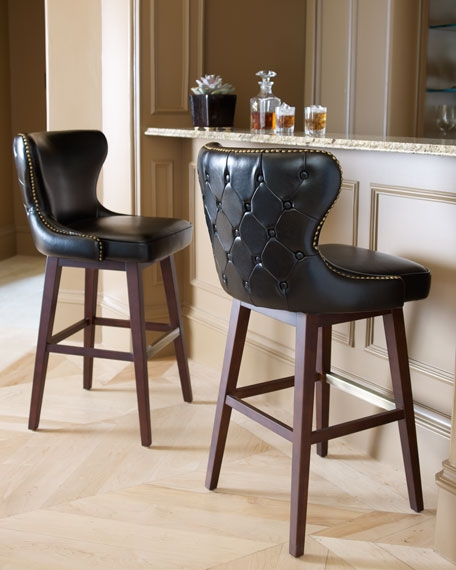 Estellequot Black Leather Barstool with regard to Amazing in addition to Interesting black leather bar stools intended for The house