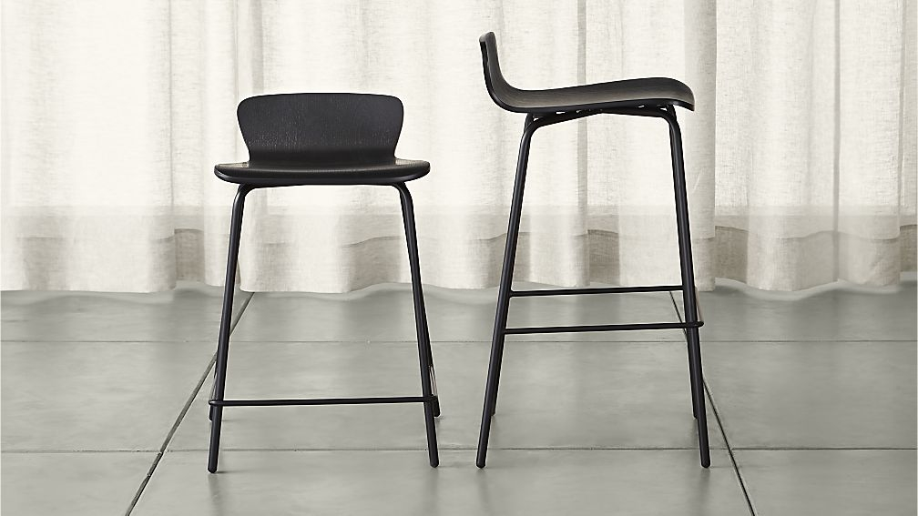 Felix Black Bar Stools Crate And Barrel with black bar stool for House