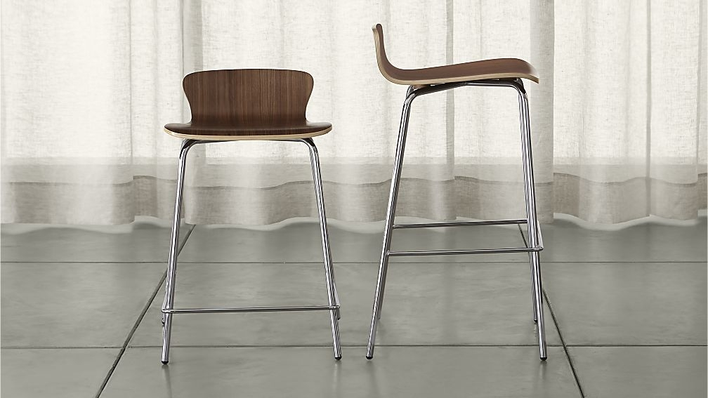 Felix Walnut Bar Stools Crate And Barrel inside room and board bar stools intended for Property
