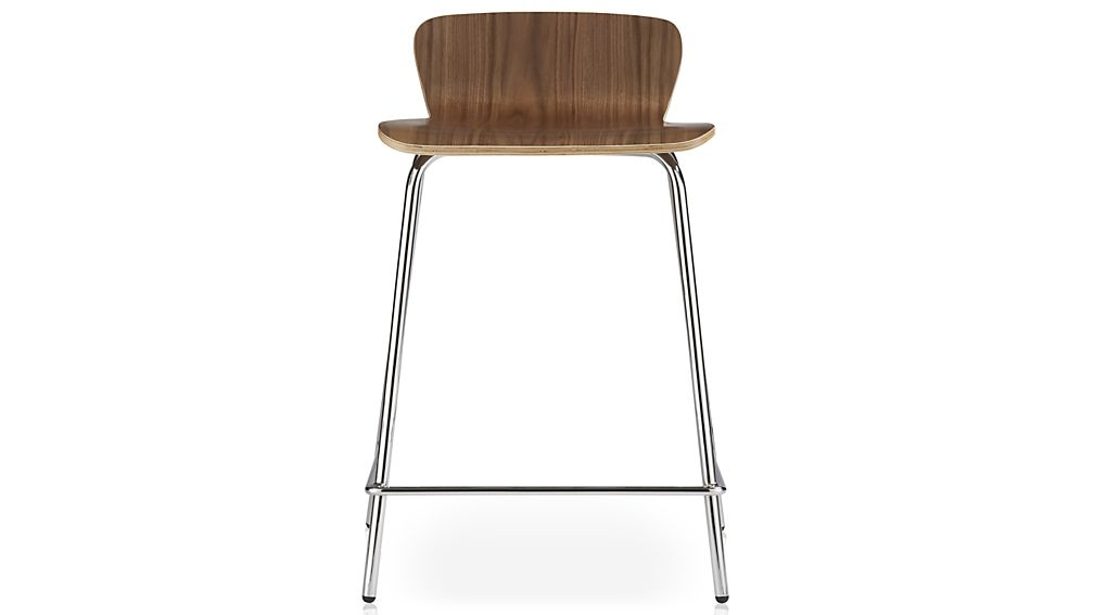 Felix Walnut Bar Stools Crate And Barrel throughout Walnut Bar Stools