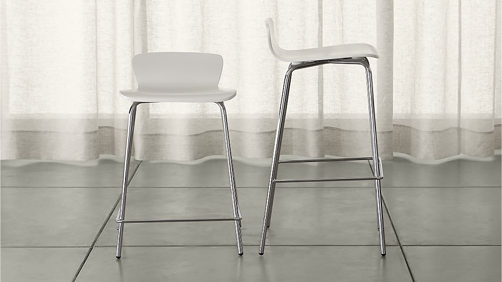 Felix White Bar Stools Crate And Barrel intended for White Bar Stools