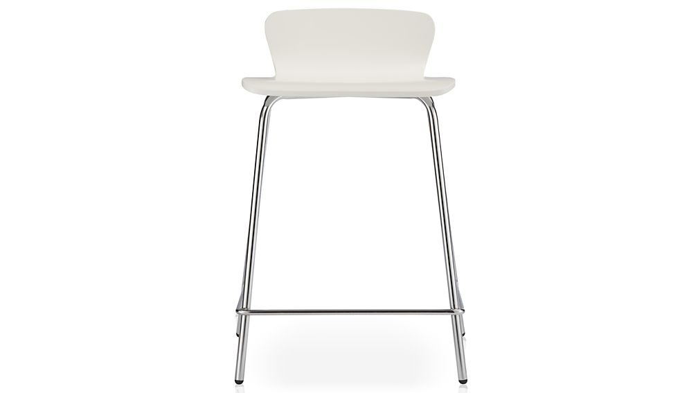 Felix White Bar Stools Crate And Barrel regarding The Stylish  bar stools white for Household