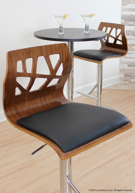 Folia Bar Stool And Adjustable Bar Table Contemporary Chicago intended for Lumisource Bar Stools