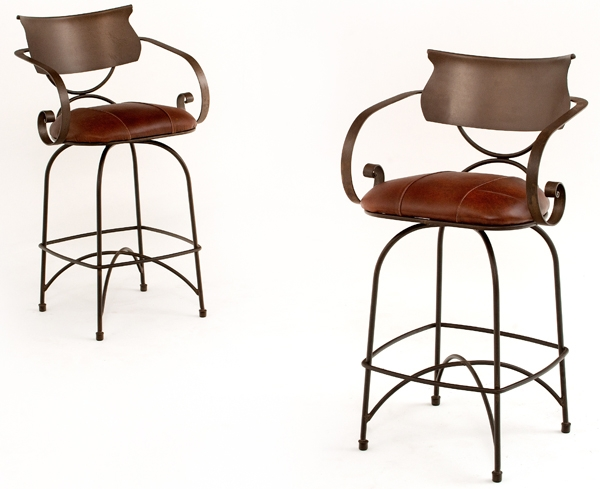 Forged Metal Bar Stools Design 3 Woodland Creek Furniture for metal swivel bar stools pertaining to  Residence